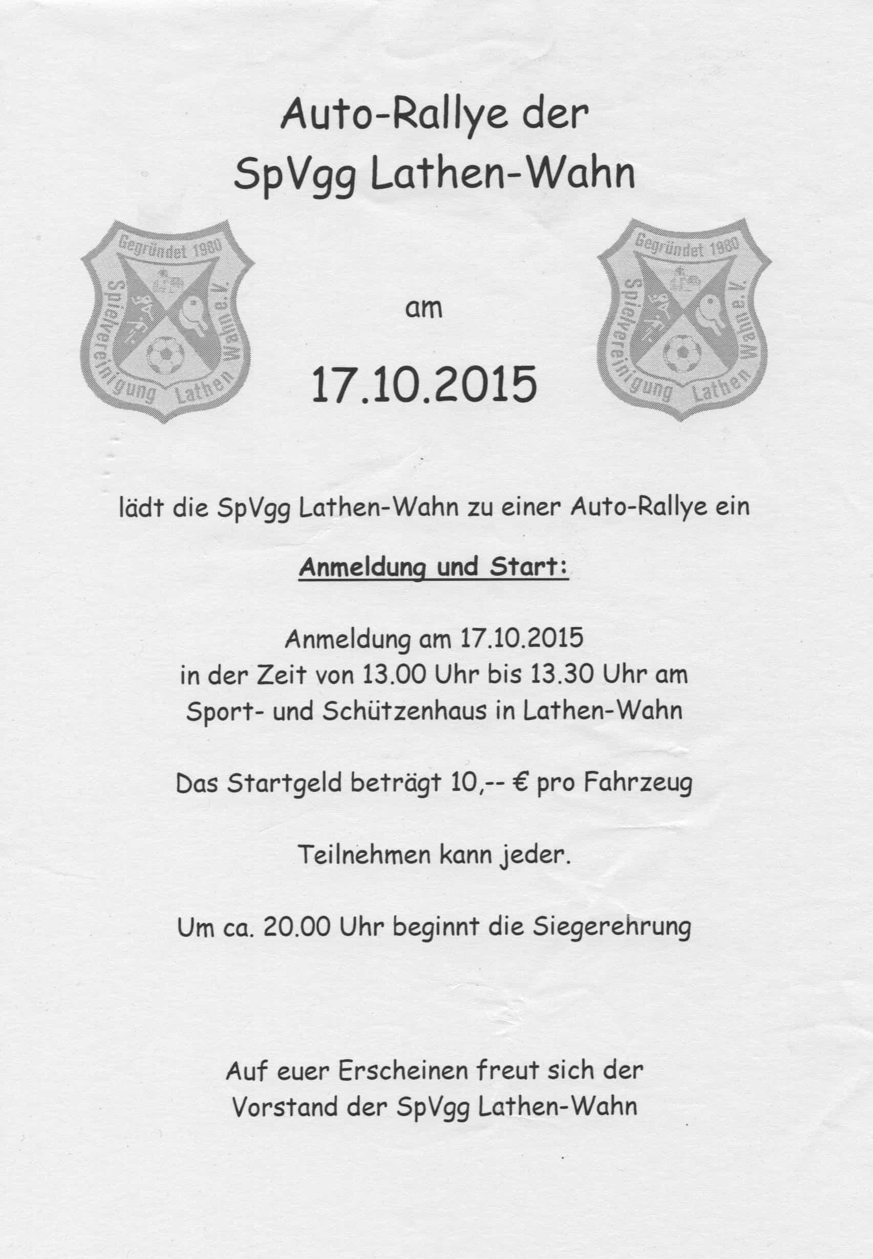 Auto-Rallye 2015
