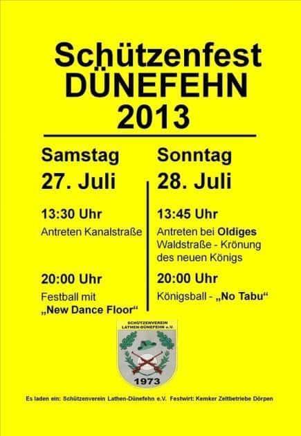 Schützenfest Dünefehn