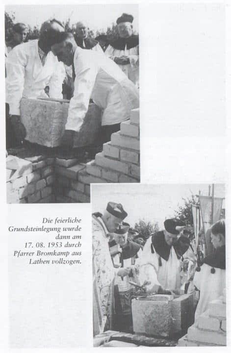 Grundsteinlegung - Kirchenbau Lathen-Wahn