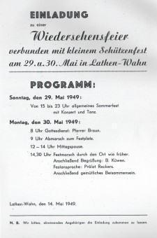 Schützenfest Einladung 1949
