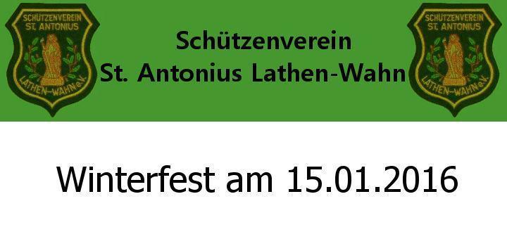 Schützenverein Winterfest 2016