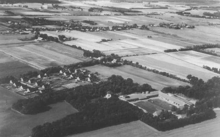 alte Luftaufnahme - Gutshof-Rupennest