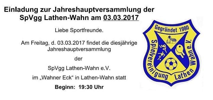 Einladung 2017 SpVgg Lathen-Wahn