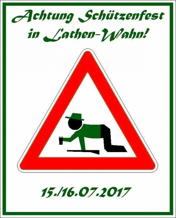 Achtung Schützenfest Lathen-Wahn 2017